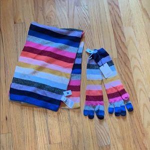 Gap Scarf & Glove Striped Set
